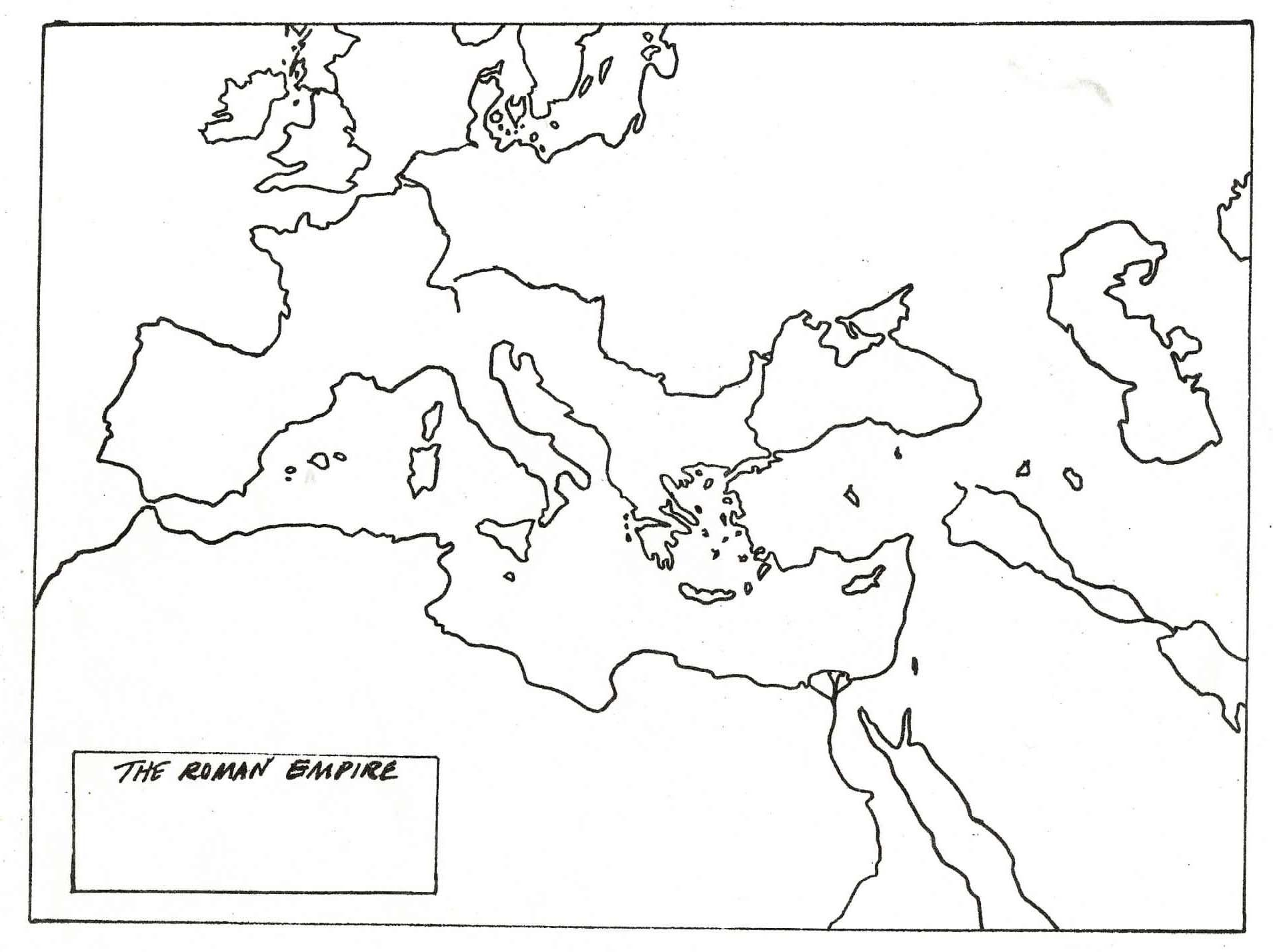 Ancient Rome Map Worksheet Answers
