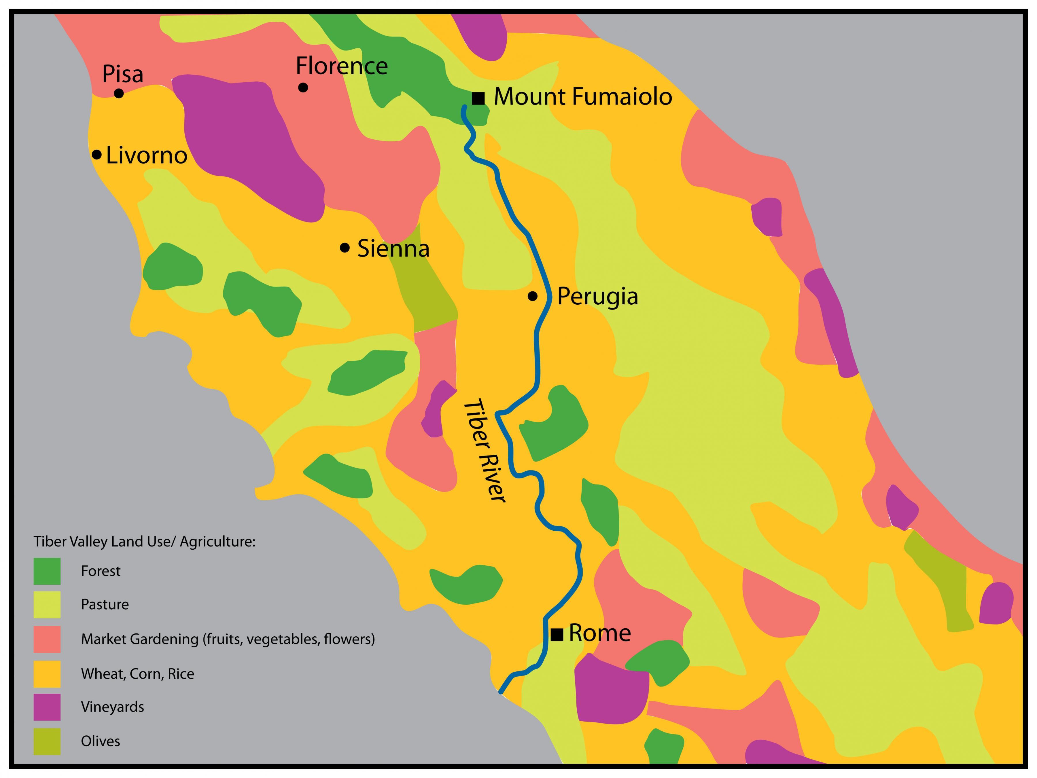 map of tiber river in europe Tiber river map   Tiber river Rome map (Lazio   Italy)