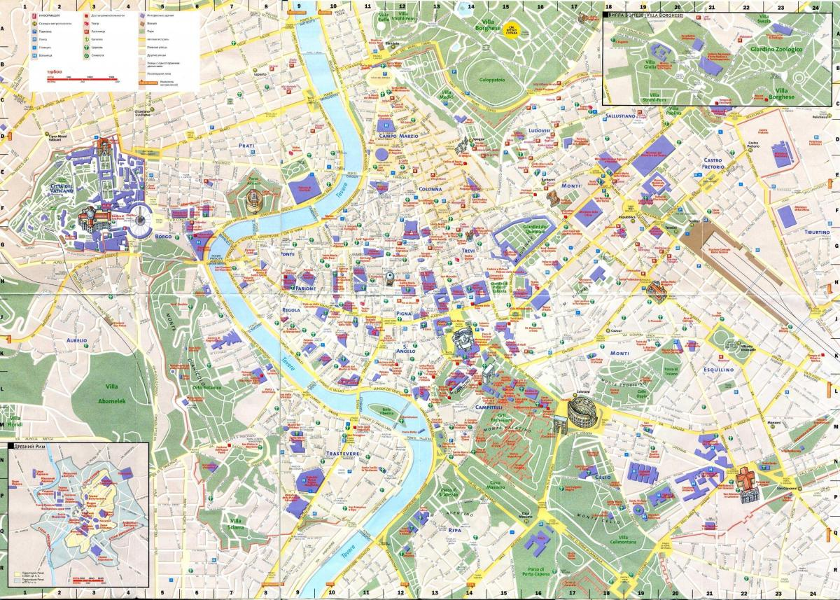 map of things to see in Rome