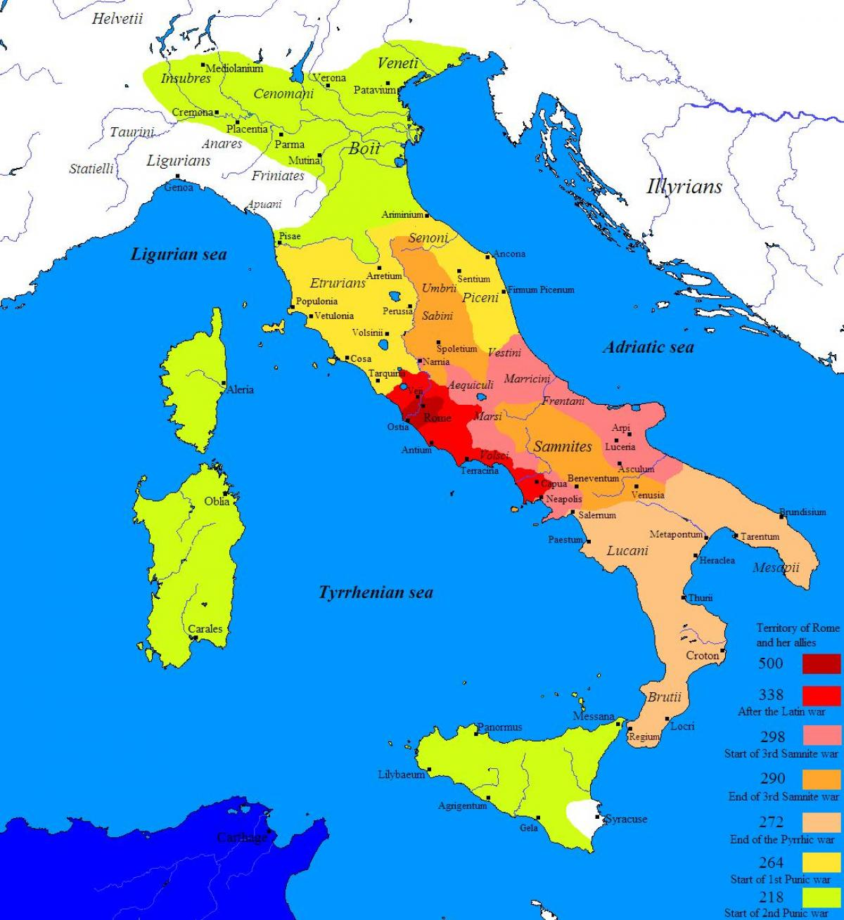 Map of ancient Rome and surrounding areas