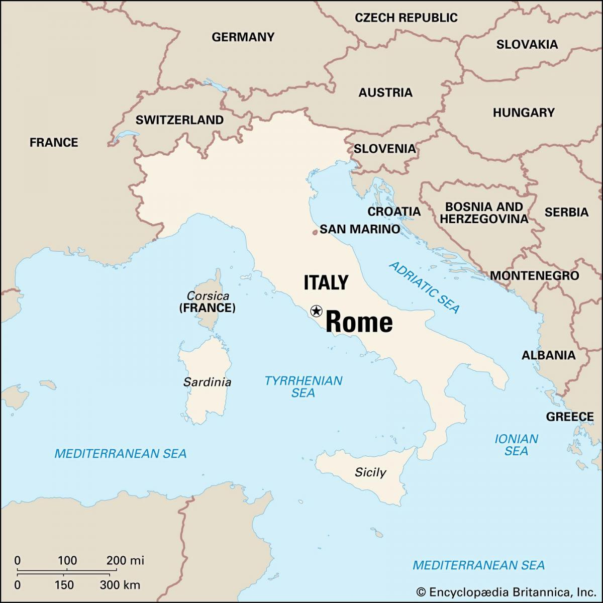 map of Rome Italy and surrounding area