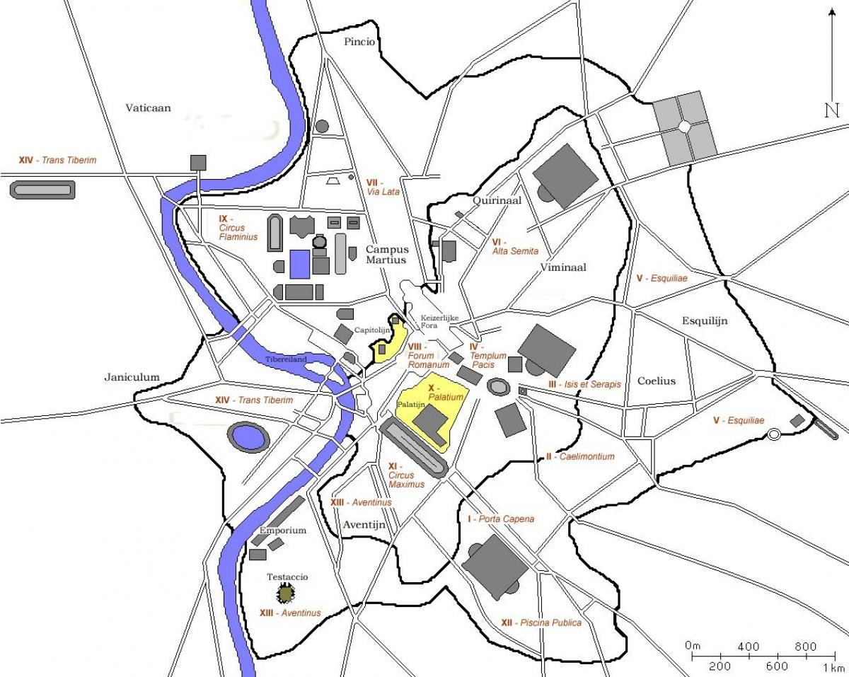 Map of mapping augustan Rome