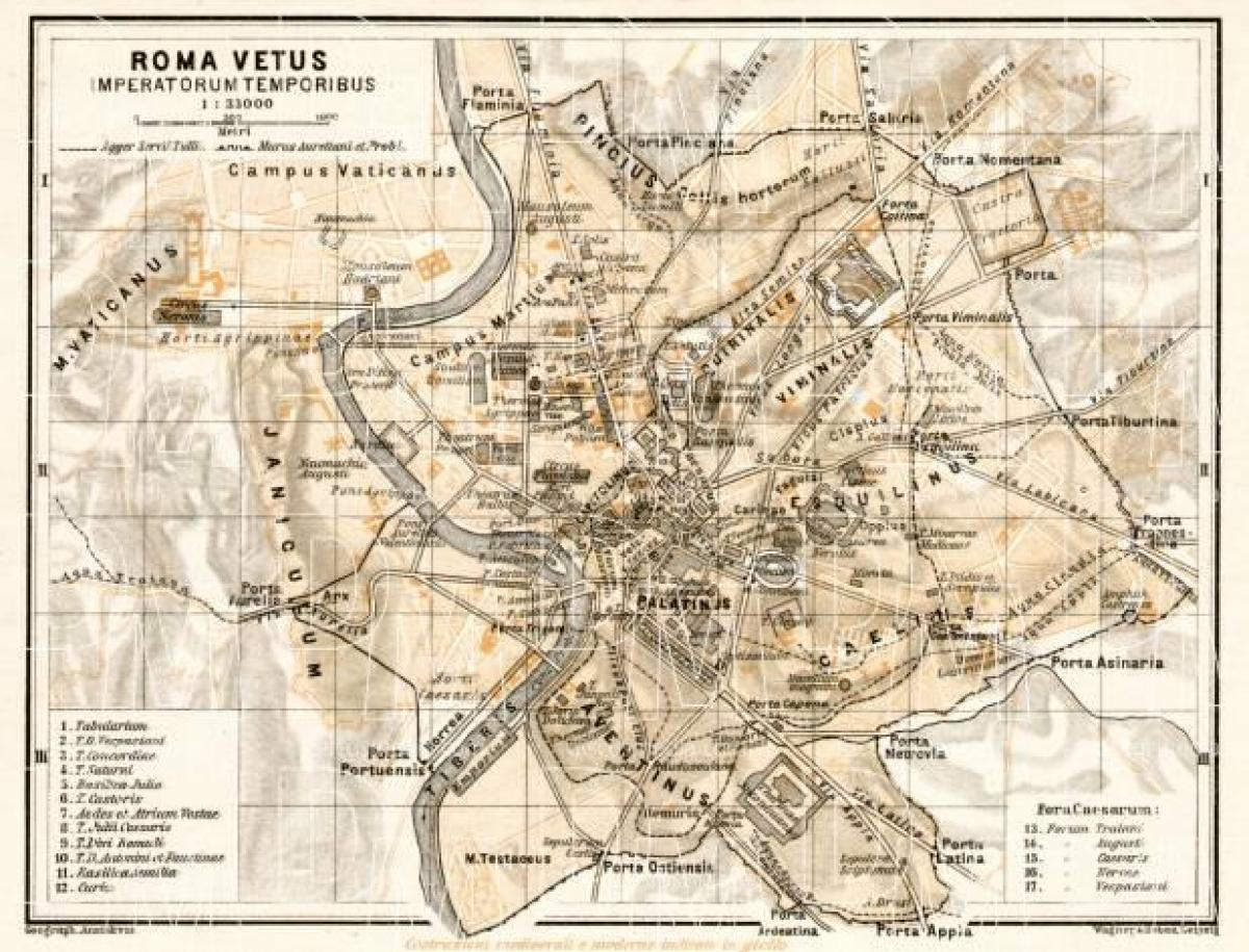 Map of old Rome