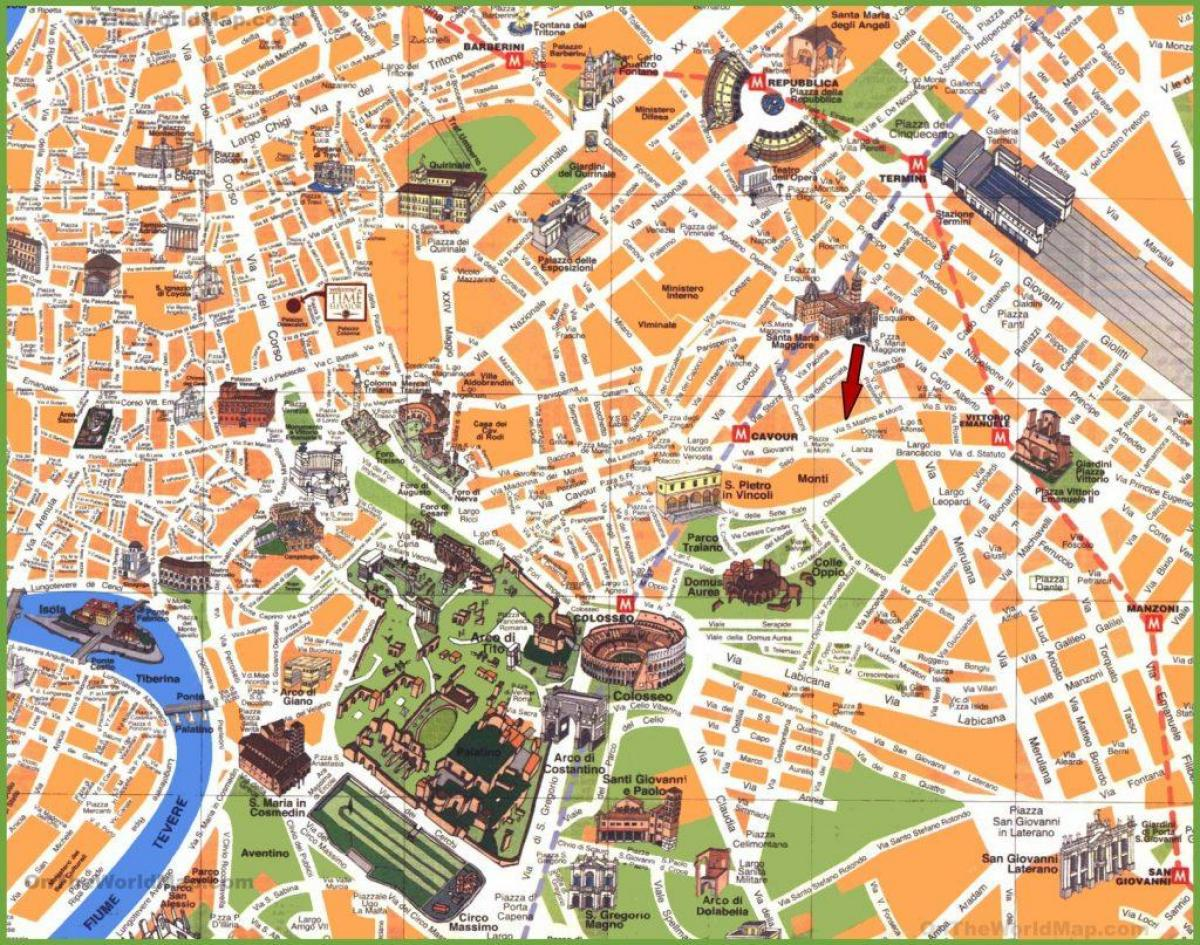 Rome Italy points of interest map