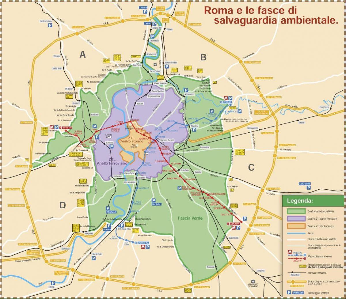 Map of Roma ztl