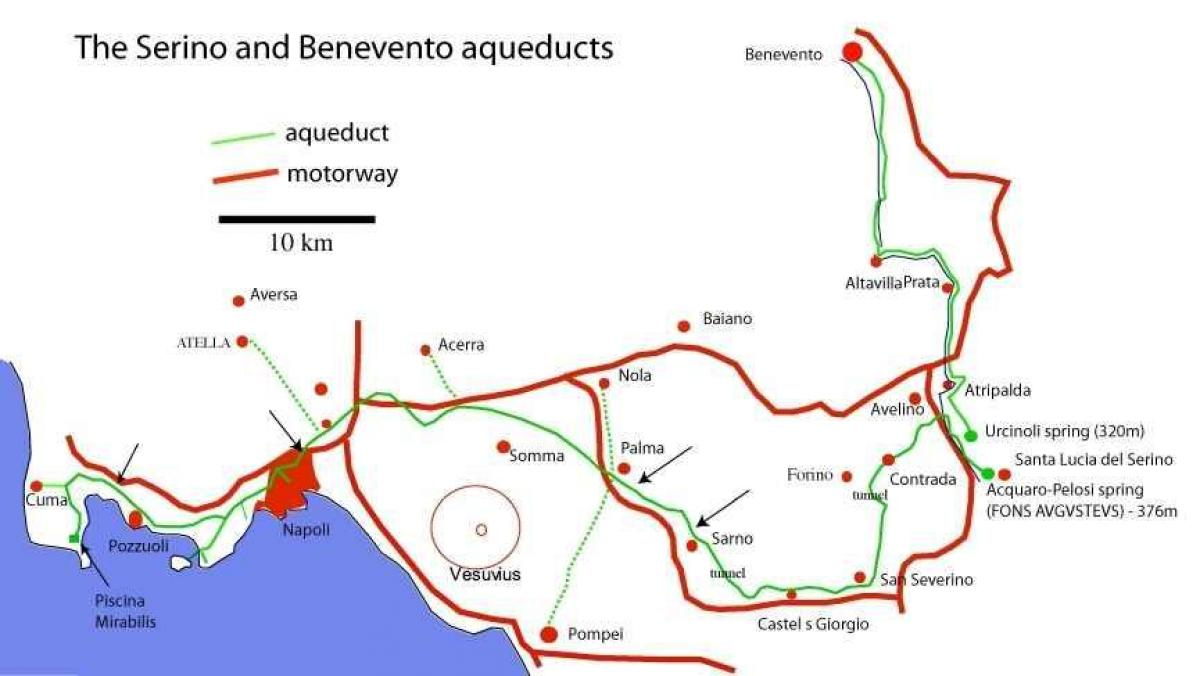 Map of Roman aqueducts