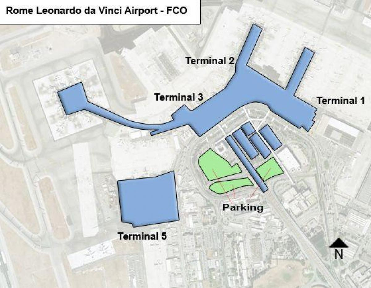 Rome airport terminal map