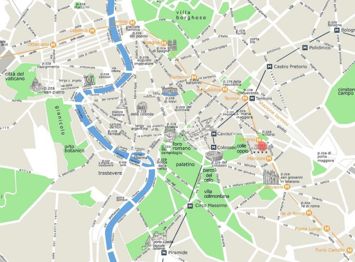 map of the centre of Rome