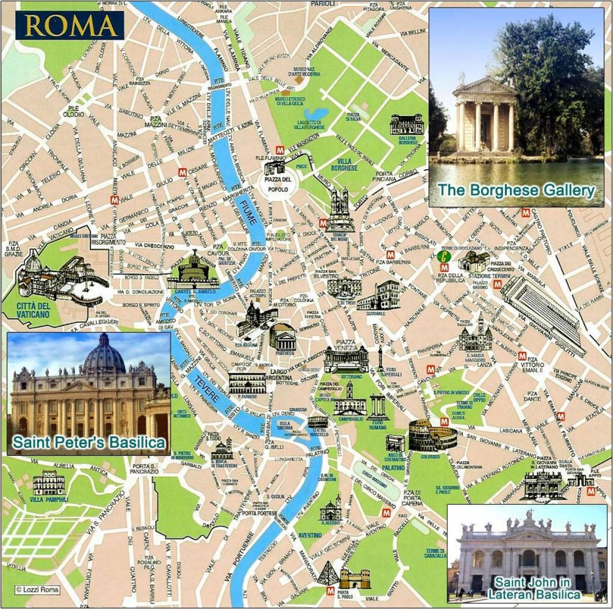 Map of Rome points of interest
