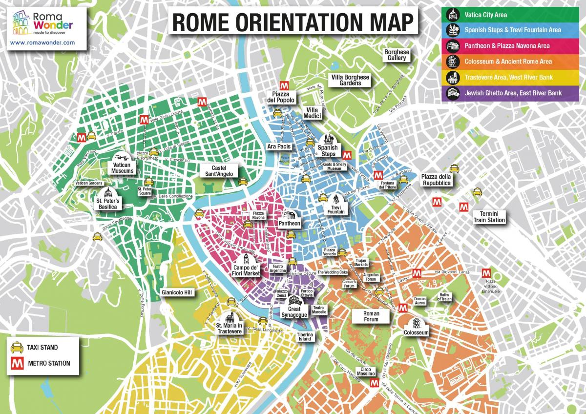 map of Rome tourist sites
