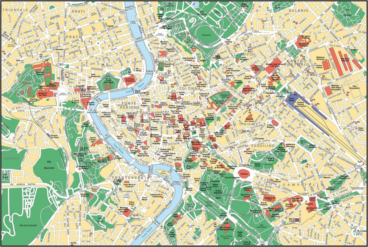 street map of Rome Italy