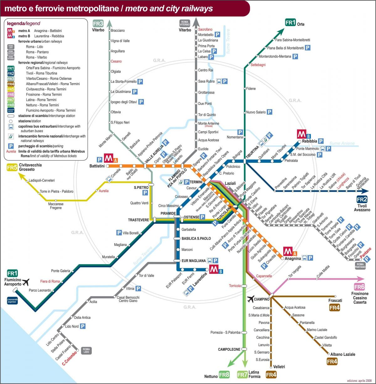 Rome Italy train station map
