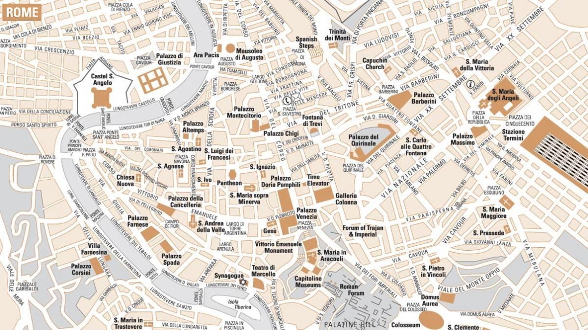 Map of simple Rome