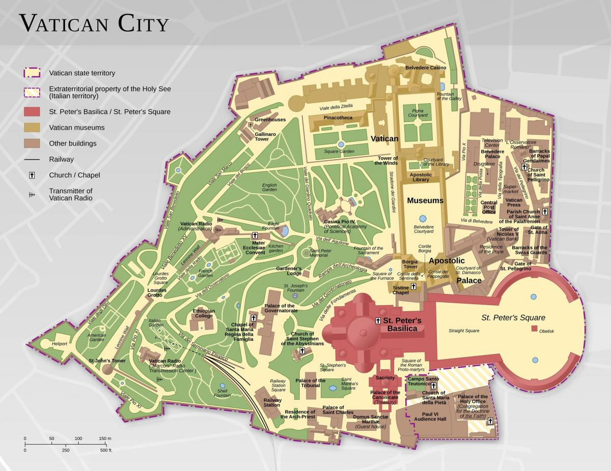 map of vatican city and Rome