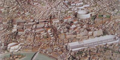 Map of 3d ancient Rome