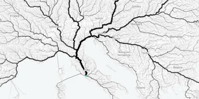 Map of all roads lead to Rome