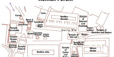 Map of ancient Roman forum