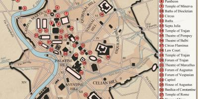 Ancient Rome city layout map