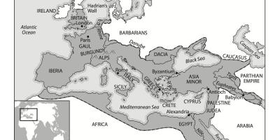 Map of black and white Rome