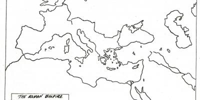 Blank map of Rome