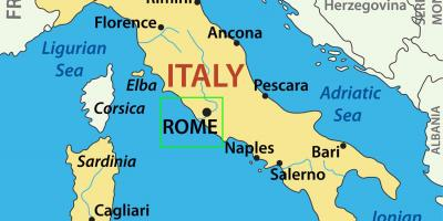 Rome location on world map - Map of Rome location on world ...