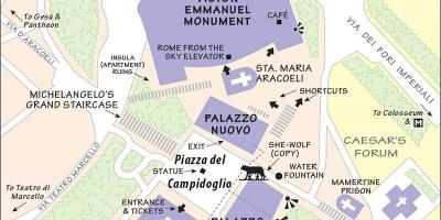 Map of capitoline museum