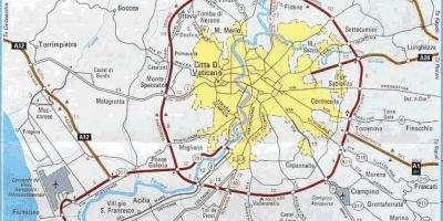 Map of centro storico Rome