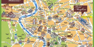 Map of city sightseeing Rome