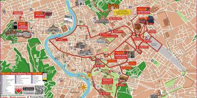 Hop on hop off Rome Italy map