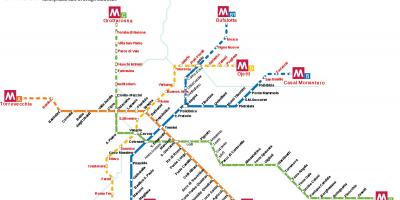 Rome subway system map
