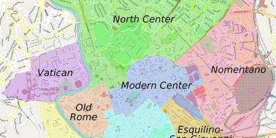 Map of Rome colosseum area