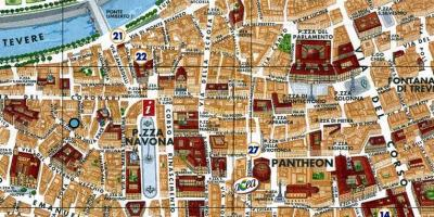 Map of Rome piazza navona
