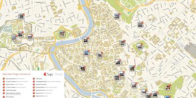 Rome Italy map of attractions