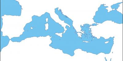 Map of Rome blank