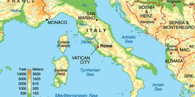 Map of Rome geography