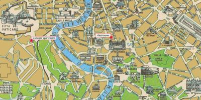 Map of Rome historic centre