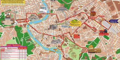 Rome hop on hop off sightseeing tour map