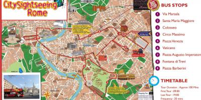 Rome hop on bus map