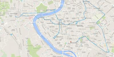 Map of Rome in a day