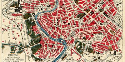 Map of Rome art