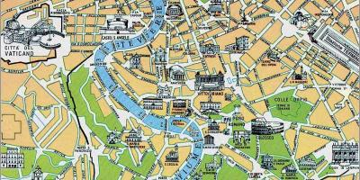 Map of Rome old city