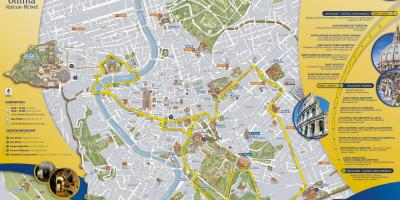 Map of Rome open tour bus route