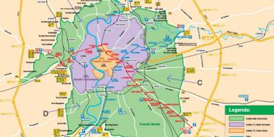 Map of Rome parking