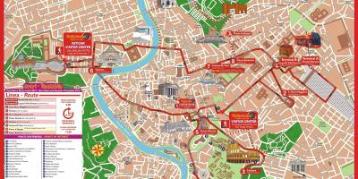 Rome city sightseeing bus route map