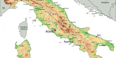 Map Rome to naples