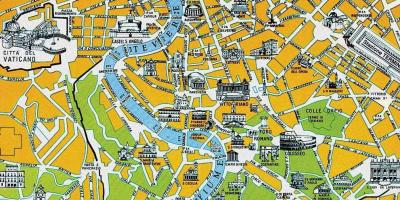 Map of Rome tourist high resolution