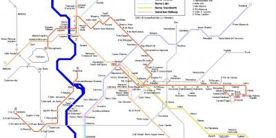 Tram map Rome Italy