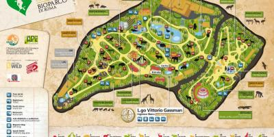 Map of Rome zoo