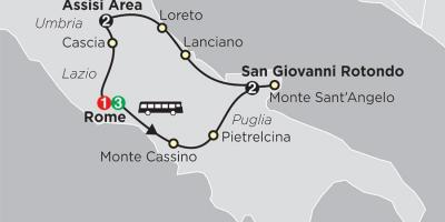Map of san giovanni Rome